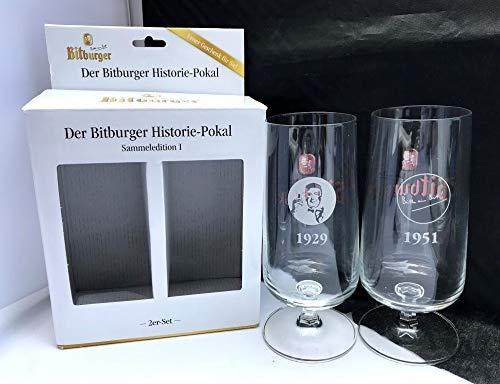Bitburger Gläser 0,3l - Sammeledition I 1929/1951 Logo / 2er Set