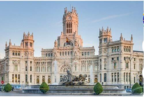 ZZXSY Puzzle Educa 1000 Piezas Fuente De Cibeles Ubicada En El Centro De Madrid España Adecuado para Regalos De Año Nuevo
