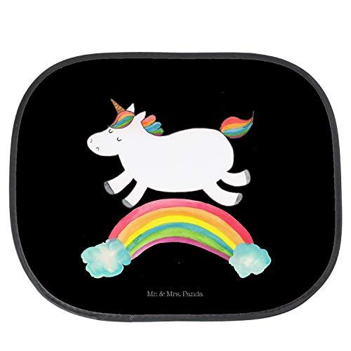 Mr. & Mrs. Panda Sonnenblende, Auto, Auto Sonnenschutz Einhorn Regenbogen - Farbe Schwarz