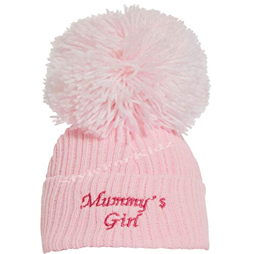 Soho Baby Ltd British Made Cute Decorative White Pink Grey Frilly Bow Diamante Knitted Hats