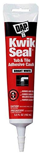 Dap 18001 Kwik Seal Caulk with 5.5-Ounce Tube, White (3 Pack)