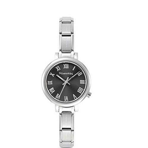 Nomination Damen Analog Quarz Uhr mit Edelstahl Armband 076010/018