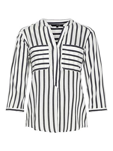 VERO MODA Female Hemd mit 3/4 Ärmeln Gestreiftes MSnow White 1