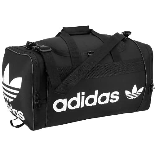 adidas Originals Unisex Santiago Duffel Bag, Black/White, ONE SIZE