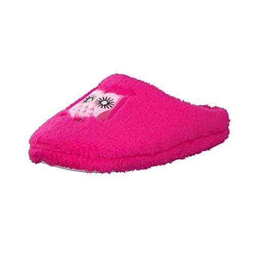 Brandsseller Trendige Hausschuhe Pantoffeln mit Eulen-Motiv für Damen - Farbe: Pink - Größe: 37/38