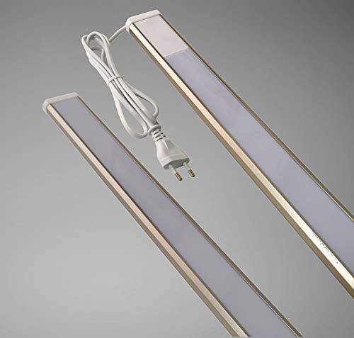 Trango 2534 - Barra de luz LED para muebles (4 niveles, intensidad regulable, 900 mm de largo, 15 W, con interruptor de encendido/apagado, luz blanca cálida, para armarios o armarios