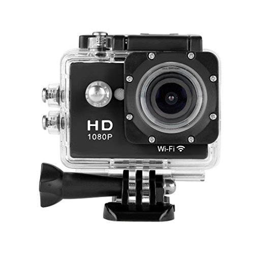 Floureon Y8 WiFi Action Sports Cam Waterproof Full HD H264 1080p Videocamera Subacquea DV Action Sport Video Camera (Nero)