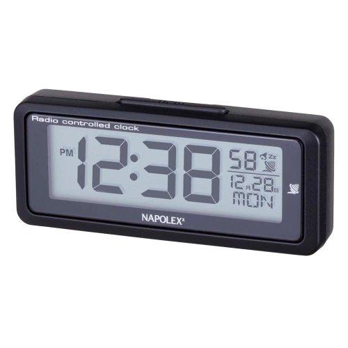 ナポレックス 車用 電波時計 Fizz ブラック LEDバックライト付 配線不要 大型液晶 角度調整可 NAPOLEX Fizz-940