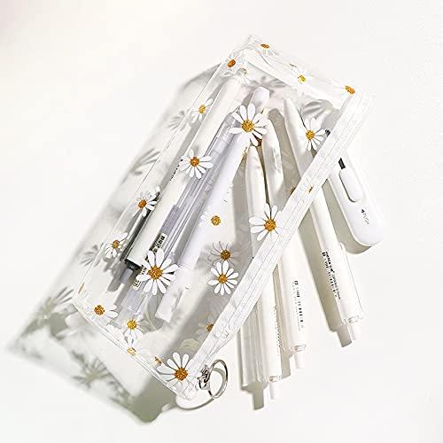 Nannlia ペンケース 透明 おしゃれ シンプル 韓国 大容量 軽量 スリム かわいい ンキング クリアポーチ 筆箱 筆入れ おしゃれ 人気 ふでばこ 女の子 男の子 子供 中小学生 高校生 大学生 社会人用 (透明)