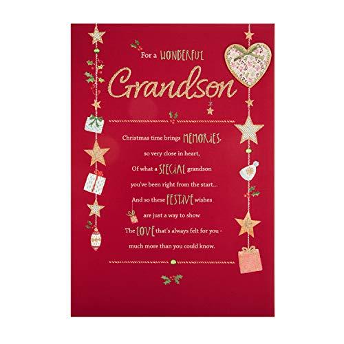 Christmas Card for Grandson from Hallmark - with Heartfelt Verse