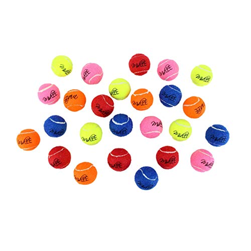 Midlee 1.5' Mini Dog Tennis Balls Bulk Set of 25 Assorted Colors