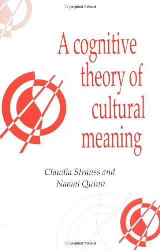 Cognitive Theory Cultural Meaning (Publications of the...