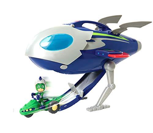Simba  109402369 - PJ Masks Super Moon Rakete Mondrakete, Space Rover Fahrzeug und Spielfigur Gecko mit Licht und Sound, 41cm, mehrfarbig, für Kinder ab 3 Jahren