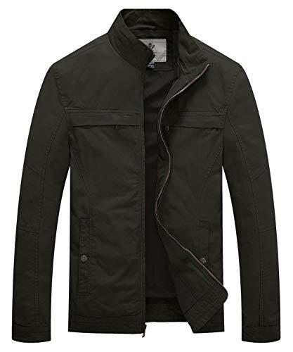 WenVen Męska outdoorowa odzież wierzchnia kurtka na co dzień bawełniany płaszcz lekka kurtka wiosenna
