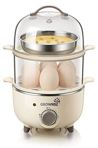スチームクッカー ゆで卵メーカー 蒸し器 フードスチーマー 温泉卵器 ゆでたまご せいろ エッグスチーマー タイマー式 温野菜 目玉焼き エッグ