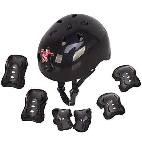 Protecciones Infantiles Skate Bicicleta Monopatín Casco, Protección Infantil Consta de Casco Ajustable...