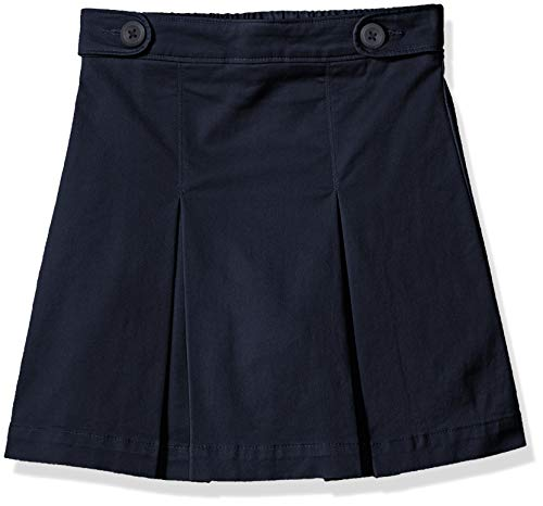 Amazon Essentials Skort für Mädchen, Uniform-Skort, Navy Blue, US L (EU 134-140 CM, P)