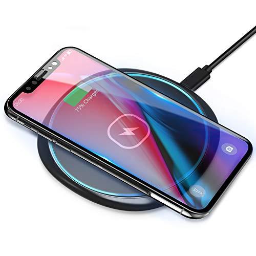 Rápido Cargador inalámbrico de 15 W Base de Carga Estación de Carga rápida para Samsung Galaxy S20 + / S20 Ultra / S9 / S8 / S8 Plus / S7 iPhone 12 SE 11 XR 8 Huawei Mate 20pro P30pro AirPods