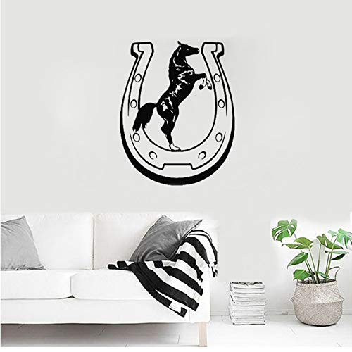 Waofe Fer À Cheval Chance Vinyle Sticker Mural Motif Animal