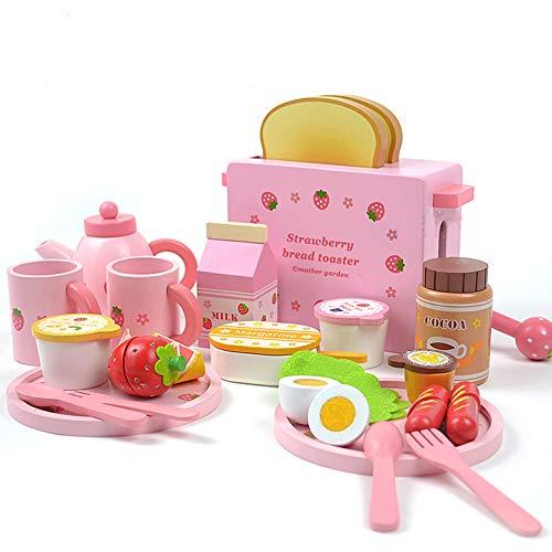 SXPC Juego de simulación Juego de Juguete Pan Tostado Pan Tostador de Madera Cocina Infantil Juego de Juguetes