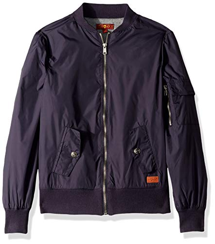 7 For All Mankind Boys' Big Bomber Jacket, Deep Well, M