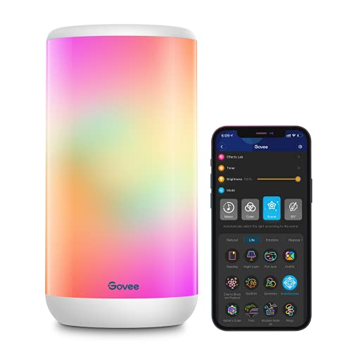Govee Smart Table Lamp, App Control RGBIC Bedside Lamp with 37 Scene Modes and Music Mode, Dimmable...
