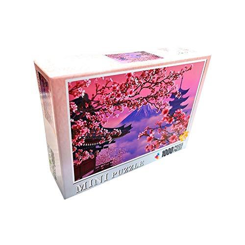 Yellow wang Puzzle 1000 Teile,Puzzle für Erwachsene,Impossible Puzzle, Geschicklichkeitsspiel für die ganze Familie - Kirschblüte - Erwachsenenpuzzle ab 14 Jahren