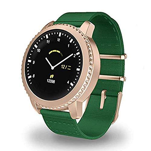 OH Mate5 Smart Watch, 1.22 Pantalla de Raqueta Pantalla Redonda Pulsera Inteligente Ip68 Carga Impermeable Usb, para Hombres Y Momen Fitness/Sports Moda/E