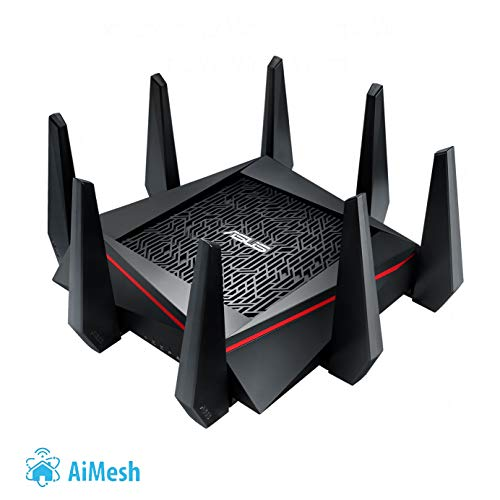 Asus RT-AC5300 Gaming Router (Ai Mesh WLAN System, WiFi 5 AC5300, Gaming Engine, 4x Gigabit LAN Link Aggregation, App Steuerung, AiProtection, Multifunktion USB 3.0)