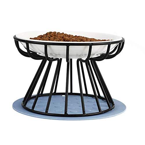 kyman Katzenschüssel angehobene Schüsseln mit Standfutter Wasser Teller Keramik Whisker Müdigkeit