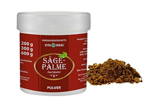 VITAIDEAL ® Sägepalme PULVER 100g (Saw Palmetto) + Messlöffel von NEZ-Diskounter