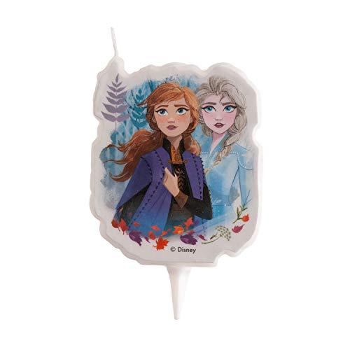 Dekora - Elsa e Anna Candela di compleanno 2D Disney Frozen 2, colore blu (346227)