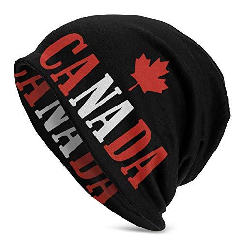 shenguang Canada Flag Men Einfarbige Mütze für Damen - Stretchy & Soft Winter Cap...