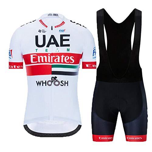 Hplights Costumi da Ciclismo per Uomini, Completo Ciclismo Uomo Estivo Maglia Ciclismo Maniche Corte Squadra Professionale,C,M