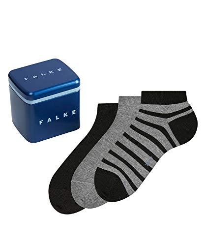 FALKE Happy Box 3-Pack Herren Sneakersocken sortiment (0010) 43-46 mit Kompakt-Baumwolle