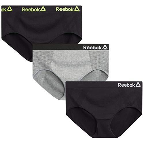 Reebok Women's Plus Size Seamless Hipster Briefs Underwear (3 Pack),...