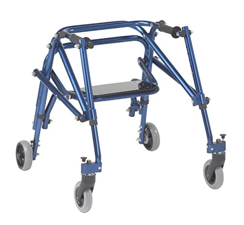 Inspired by Drive Nimbo 2G Lightweight Posterior Walker with Seat, Knight Blue, Small