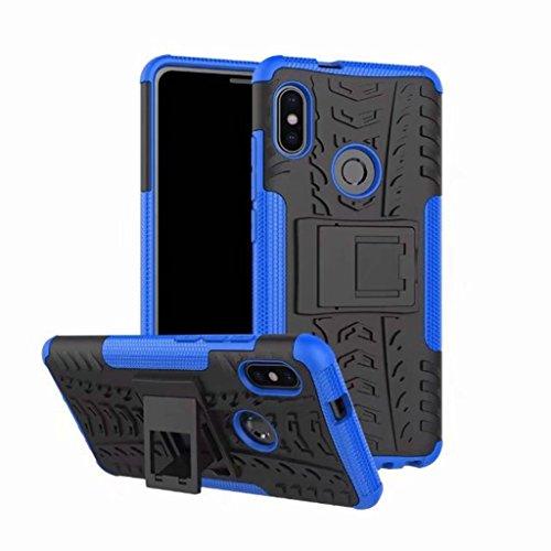 FaLiAng XiaoMi RedMi Note 5 Pro (6,0inch) Funda, 2in1 Armadura Combinación A Prueba de Choques Heavy Duty Escudo Cáscara Dura para XiaoMi RedMi Note 5 Pro (6,0inch) (Azul)
