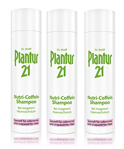 3er Nutri Coffeion Shampoo Plantur 21 für coloriertes Haar bei magerem Haarwachstum 250 ml