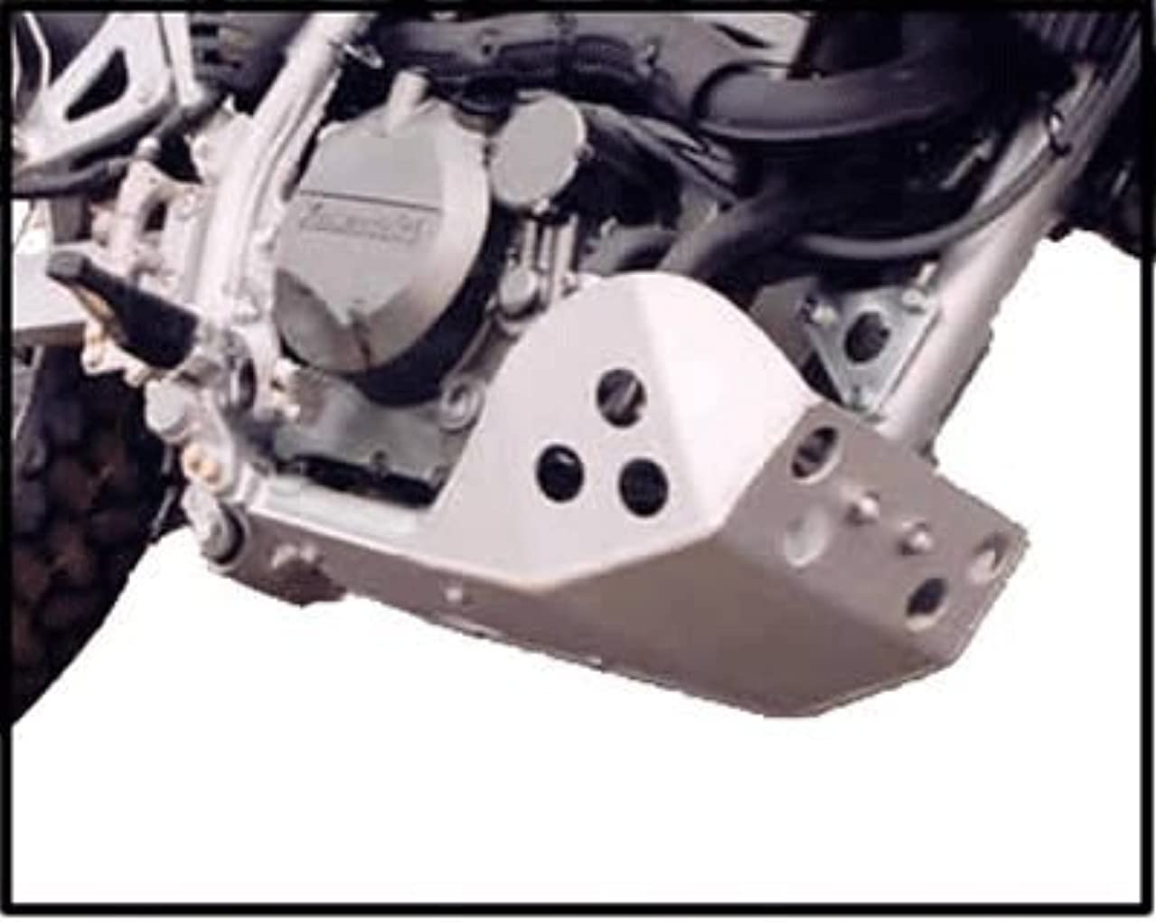 Kawasaki KLR 650 SW Motech Crash Bar Compatible Version Full Protection Skid Plate Constructed with 3/16
