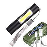 Batería incorporada en la batería XP-G Q5 Zoom Focus 2000 Lumens Mini LED Linterna Lámpara de antorcha Ajustable Pen Light Impermeable para exteriores Z50 (Body Color : 3 PCS)
