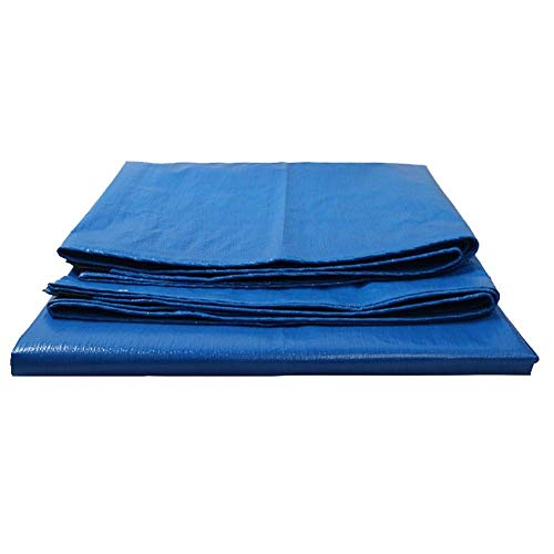 Hoogpresterende dekzeilen voor camping, waterdicht polyzeildoek voor buiten, met oogjes voor overkapping, blauw 200 G M & sup2; (grootte: 5 mx 6 m)