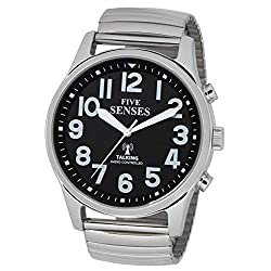 English Atomic Jumbo Size (43mm /1.75in) Talking Watch with Loud Alarm Clock for Visually impaired, Elderly Person by 5 Senses :1523