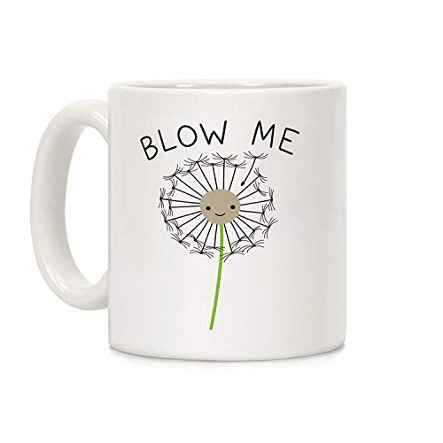 Koffie mok, Thee Beker, Blow Me Paardebloem Wit 11 Ounce Keramische Koffiemok