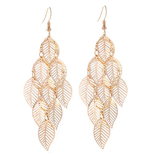 Adlereyire Earrings Creative Personality Jewelry, Birthday Anniversary Graduation for Girls Mother Wife Daughter (Color : Gold, Size : 2-pairs)