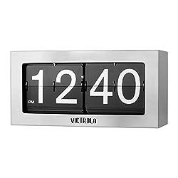 Victrola VC-425-SLV Flip Clock Large Silver