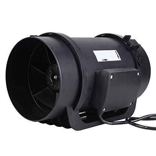 Accesorio 470CFM para ventilador de motor EC de conducto en línea AC100-240V de 6,3 pulgadas para lugares públicos para hospitales