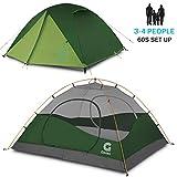 [page_title]-Gonex Camping Zelt, 3-4 Personen Kuppelzelt Wind- und wasserdichtes Campingzelt für 3 Jahreszeiten, perfekt für Camping, Wandern, Rucksacktouren und Bergsteigen, einfache Einrichtung
