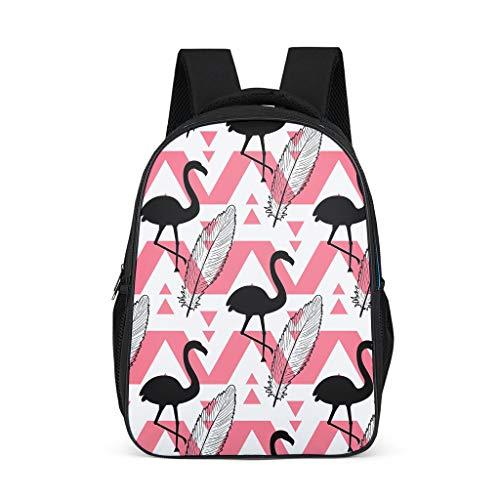 Flamingos Teenage's Bookbag Lightweight All Over Print for Youth indumentum grey onesize