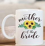 N\A Taza de Girasol para la Madre de la Novia, Taza para la Madre de la Novia, Taza para la Madre del Novio